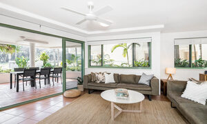 Apartment 2 Surfside - Byron Bay - Living Area Looking Out to Front Patio