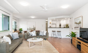 Apartment 2 Surfside - Byron Bay - Living Area Looking to Kitchen and Dining