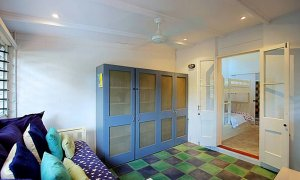 Aurora Byron Bay - media room through to bunk and single room