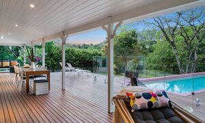 Bellbird - Byron Bay - Rear Deck Looking Across to Pool at Dusk a