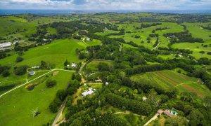 Byron Creek Homestead - Byron Bay - Aerial to Coastline