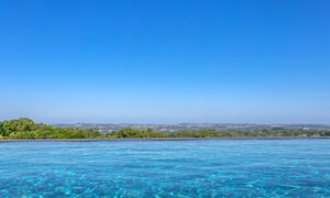 Callistemon View - Byron Bay Hinterland - Federal - wet edge infinity pool view