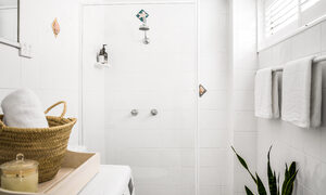 Cooinda - Byron Bay - Downstairs Bathroom and Laundry a