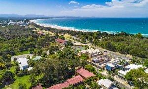 Cooinda - Byron Bay - Aerial towards town