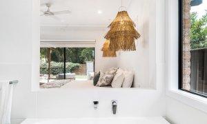 Julian Rocks House - Byron Bay - Ensuite Bathroom Looking to Master Bedroom