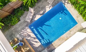 Kaylani Cove - Byron Bay - Aerial Straight Down on Pool