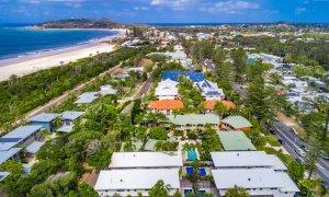 Kokos Beach Houses - Byron Bay - Aerial Towards Cape Byron