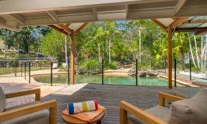 Rockinghorse House - Byron Hinterland - deck to pool