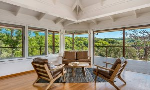 Rockinghorse House - Byron Hinterland - Sitting area with view
