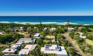Shore Beats Work - Byron Bay - Aerial Straight Towards Beach