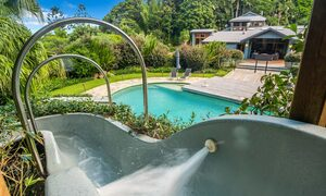 Stone and Grove - Byron Bay - Ewingsdale - waterslide into pool