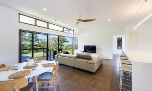 Toad Hall Cottage - Lennox Head - Living Room from Front Door