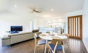 Toad Hall Cottage - Lennox Head - Living Room to Kitchen
