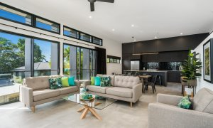 Wollumbin Haus - Byron Bay - spacious open plan living area