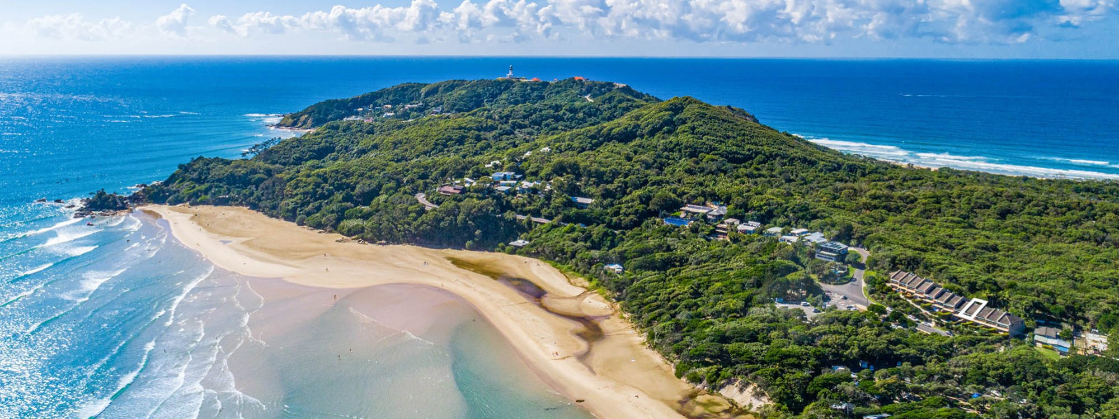 4 James Cook - Byron Bay - Aerial towards Lighthouse c