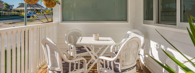 Aditi - front deck sitting area