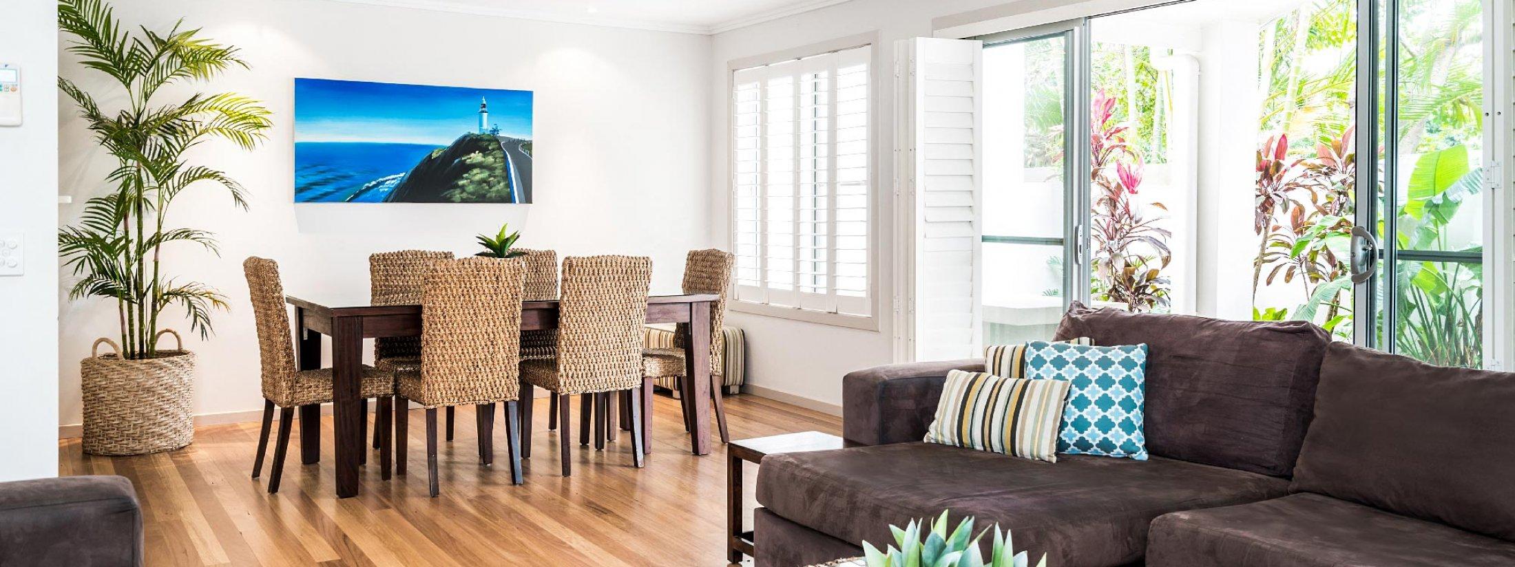 At Driftaway - Byron Bay - Living and Dining Area