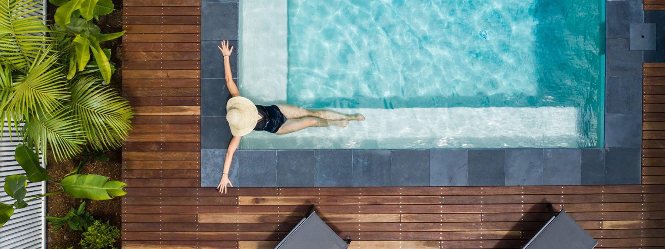 Bamboo Beach House - Byron Bay - Aerial Pool