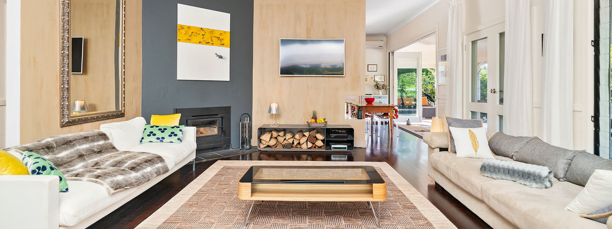 Bellbird - Byron Bay - Living Area c