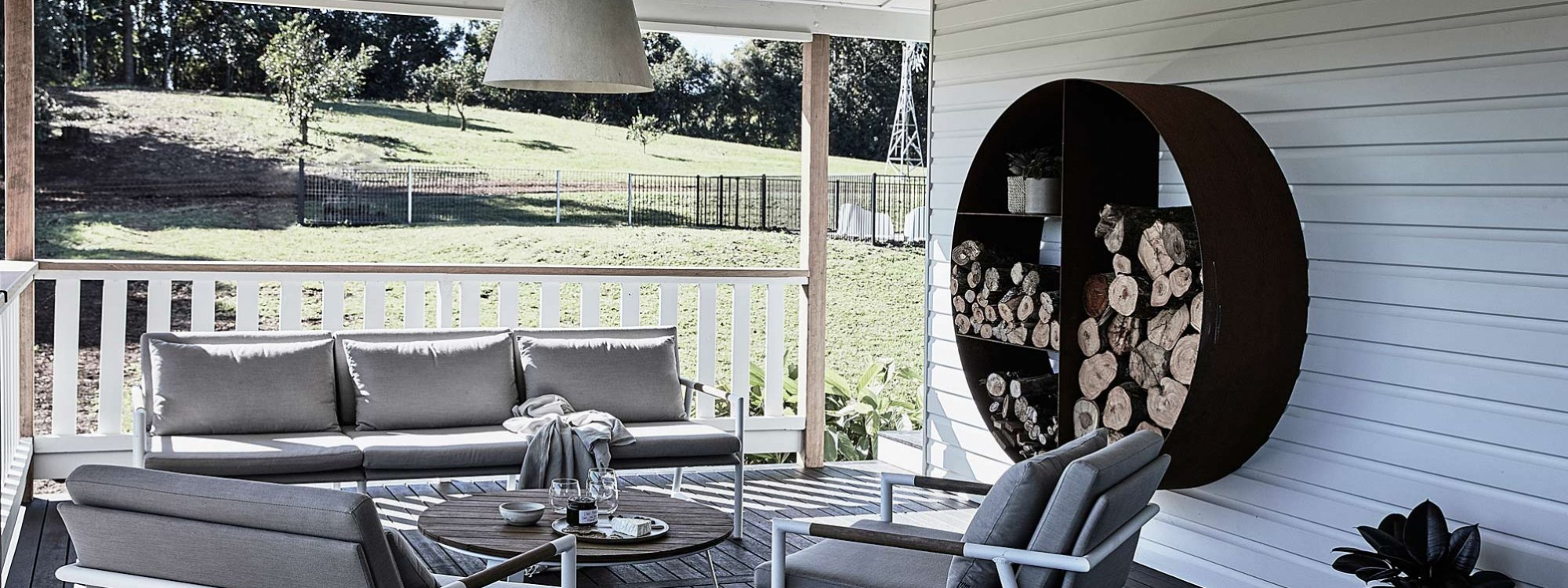 Bennys Cottage - Byron Bay - Real Living Shoot Outdoor Chairs and Timber
