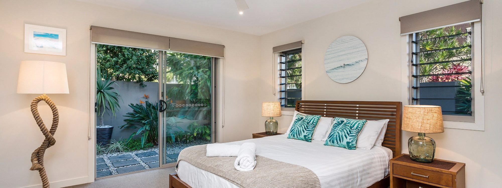 Byron Beach Style - Downstairs Queen Bedroom