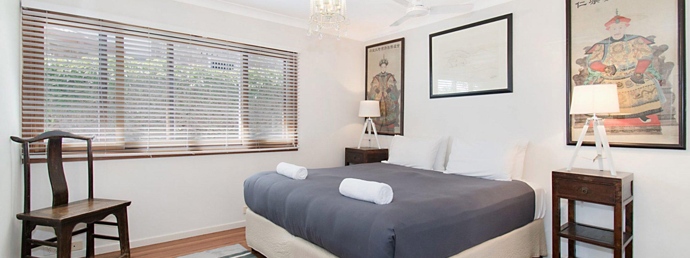 Byron View - Clarkes Beach - Bedroom 2 King Split