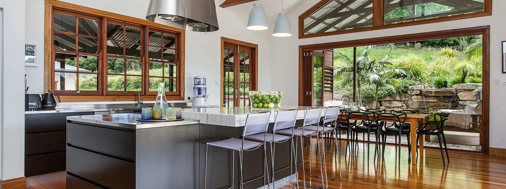 Callistemon View - Byron Bay Hinterland - Federal - kitchen and dining