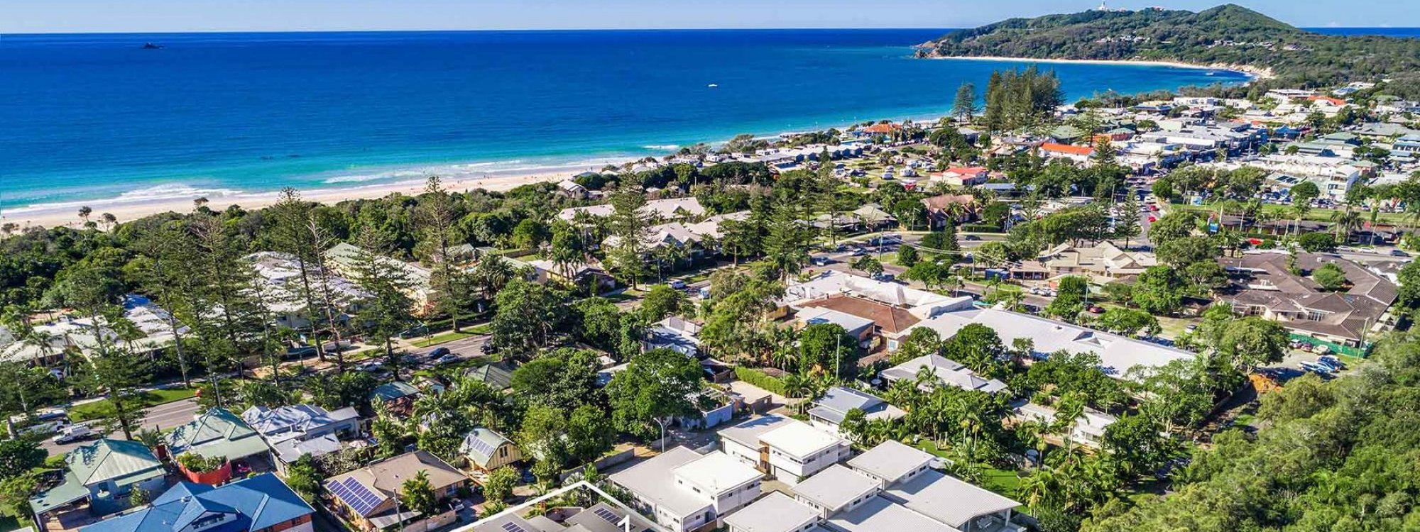 Clique - Byron Bay - Aerial Towards Cape Byron Outline