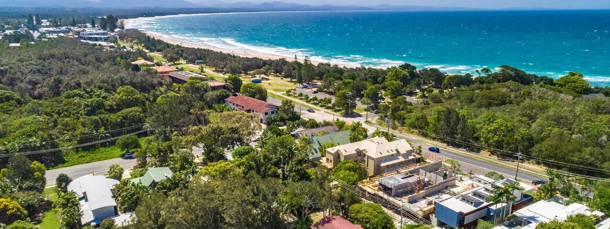 Cooinda - Byron Bay - Aerial towards town