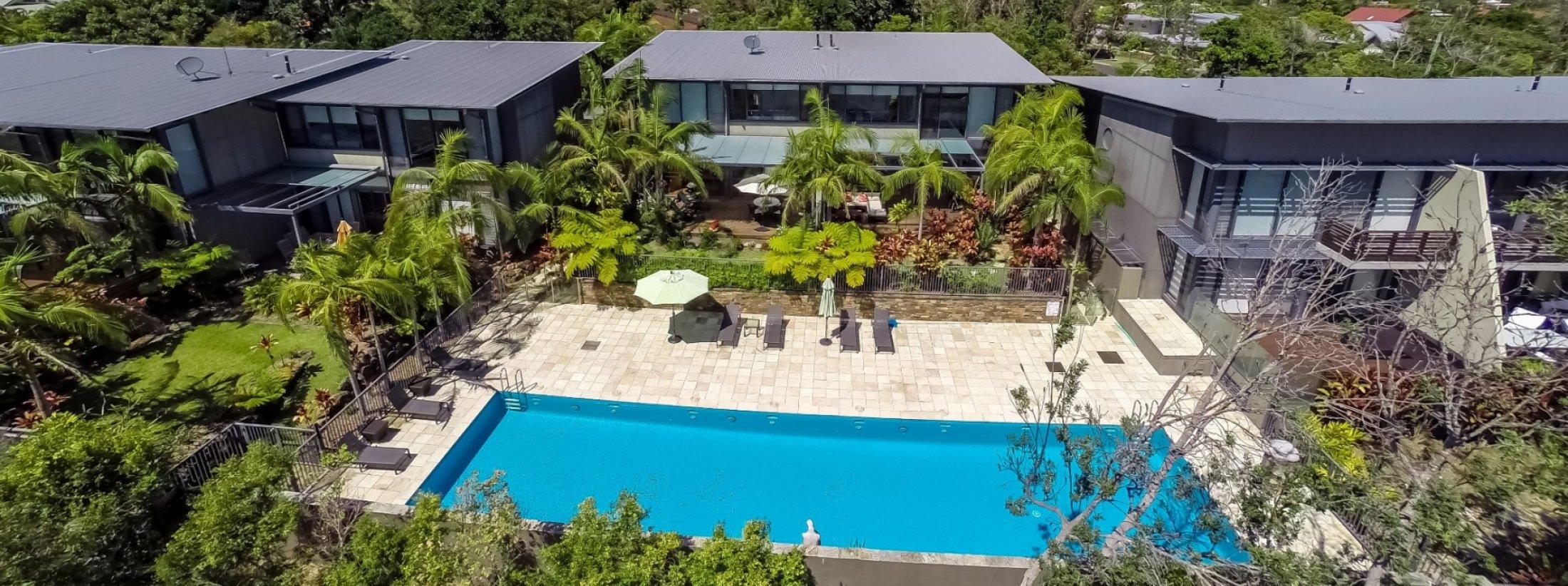 Kiah Beachside - Belongil Beach - Byron Bay - Aerial View