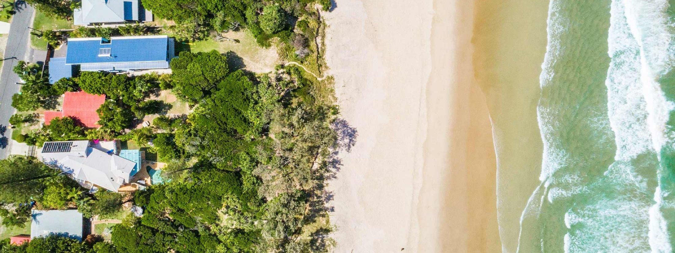 Gigis - Byron Bay - Aerial Straight Down