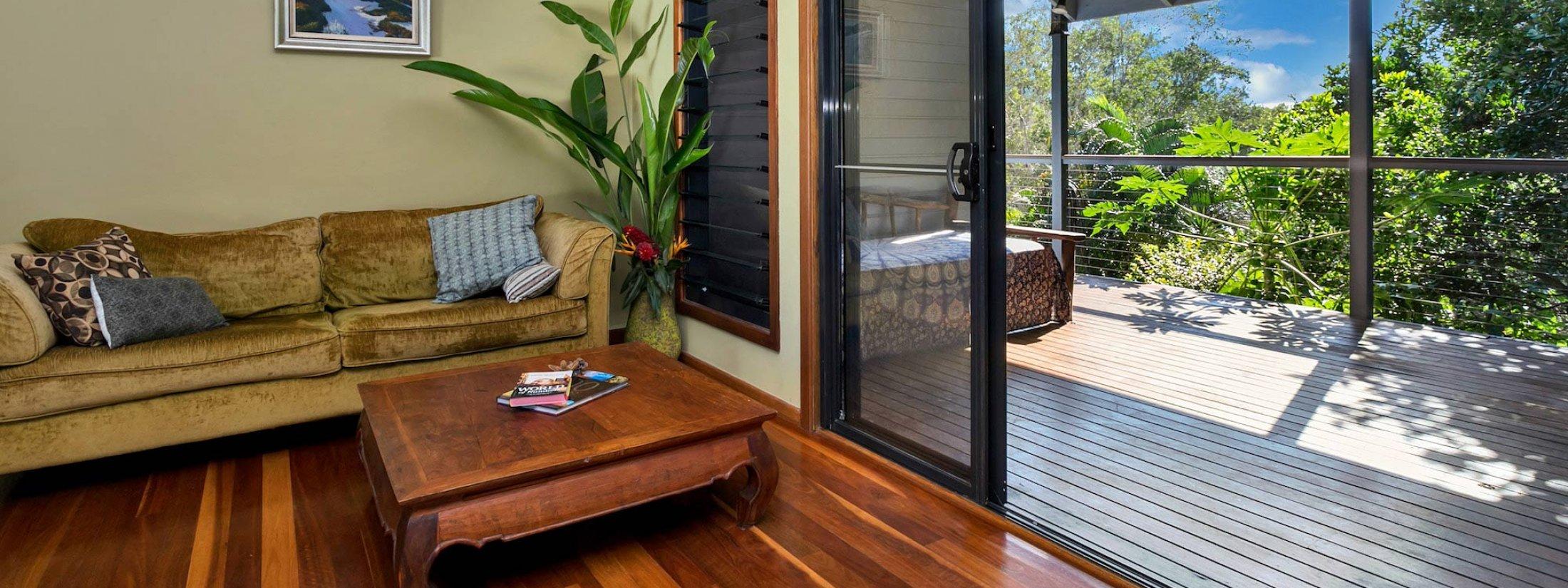 Jannah - Lennox Head - Lounge to deck