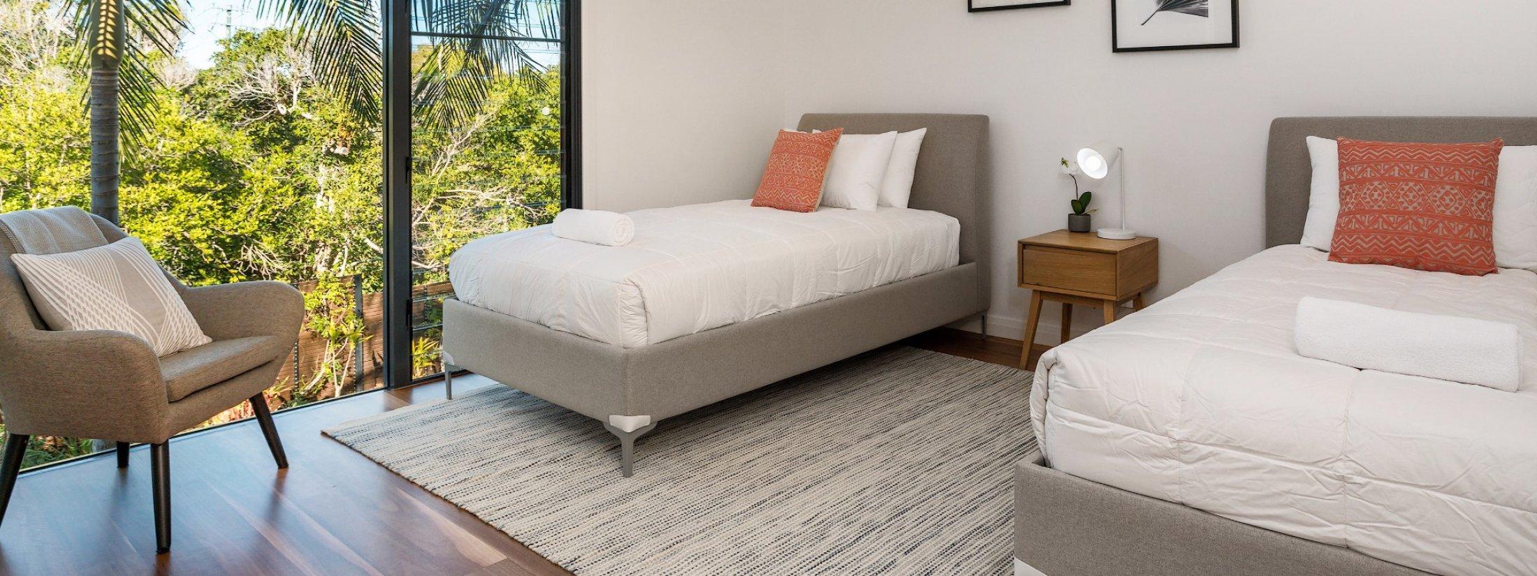 Kiah Beachside - Belongil Beach - Byron Bay - twin bedroom
