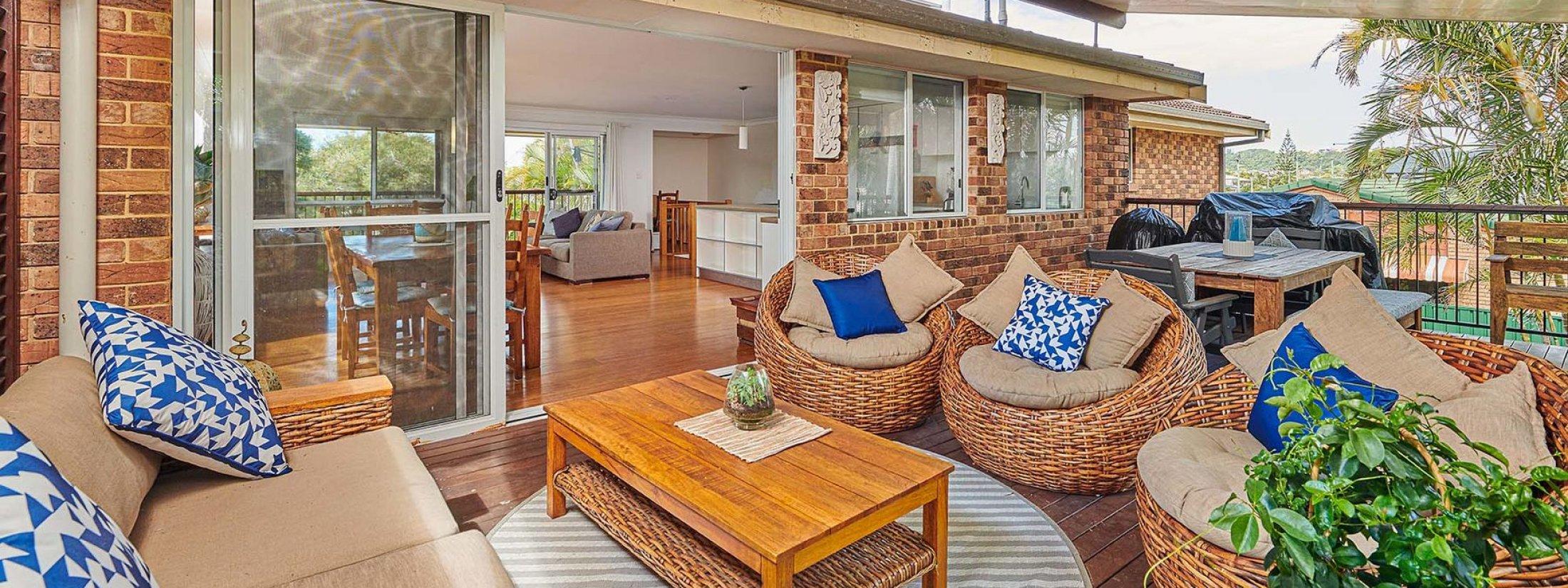 Sea Breeze - Lennox Head - Back Deck to Living Area