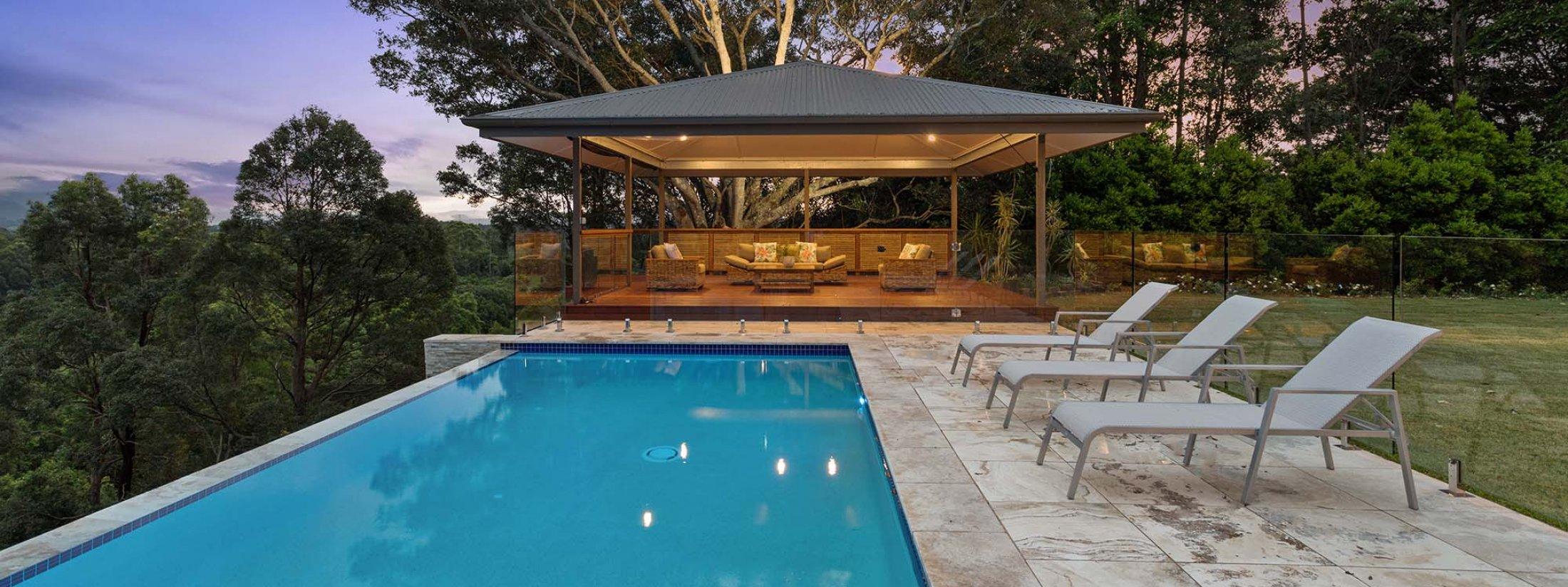 Serene Myocum - Byron Bay - Pool and Cabana