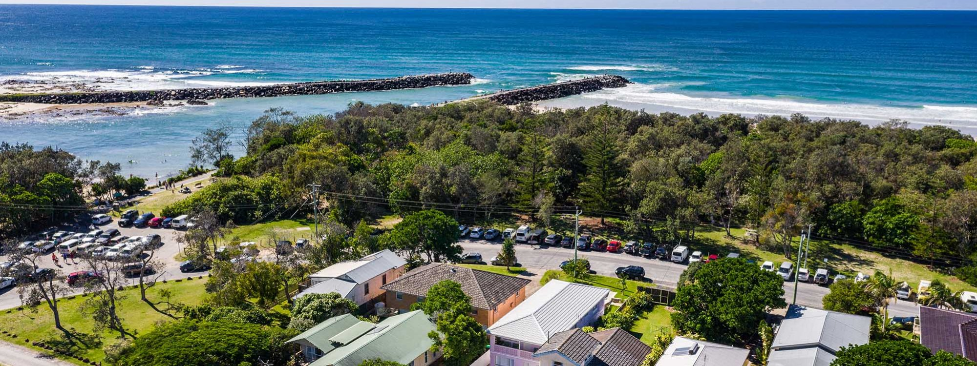 Sunset Beach - Brunswick Heads - Aerial Looking Northeast