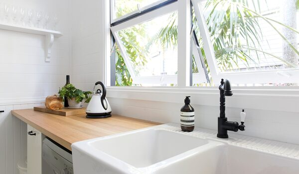 Collective Retreat - Bangalow - Kitchen bench and sink
