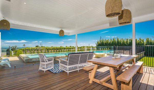 Villa St Helena - spacious poolside deck